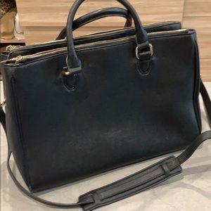 Zara saffiano faux leather women's work bag laptop